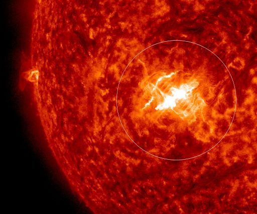 The first X-flare of 2015 from NASA's Solar Dynamics Observatory