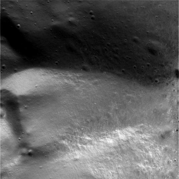 A few of Iapetus from only 1,651 km / 1,025 miles.
