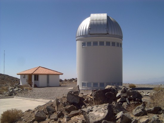 The 1.3-meter telescope used by the OGLE project is located in Chile.