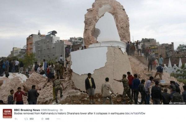 Powerful 7 9-magnitude earthquake rocks Nepal   Earth   EarthSky