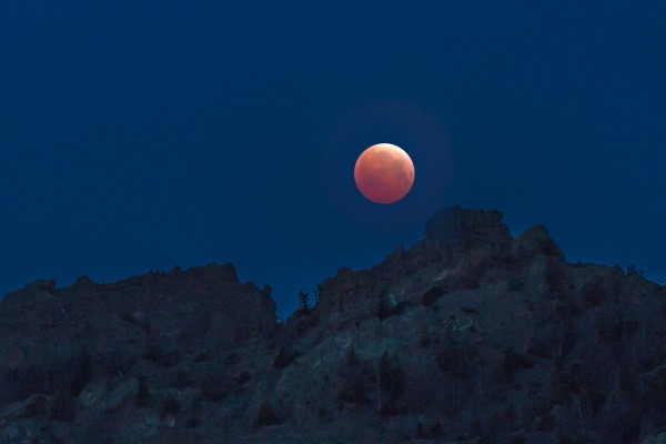 Jack Webb caught the eclipse in Wapiti, Wyoming, just outside the east entrance to Yellowstone Park.