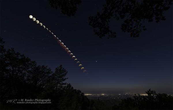 Meggi Raeder in Palo Alto, California created this beautiful eclipse composite.
