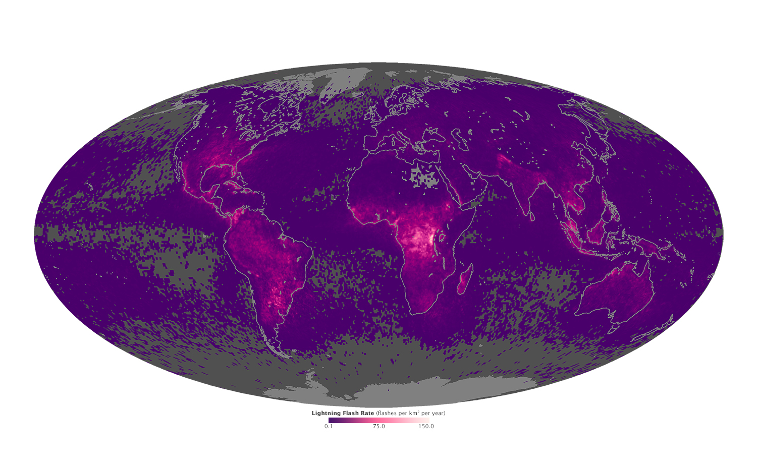Where lightning flashes most earth earthsky view larger gumiabroncs Images