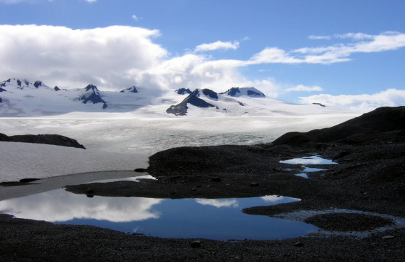 Harding Icefield, where ice worms live. Photo credit: Ianqui Doodle