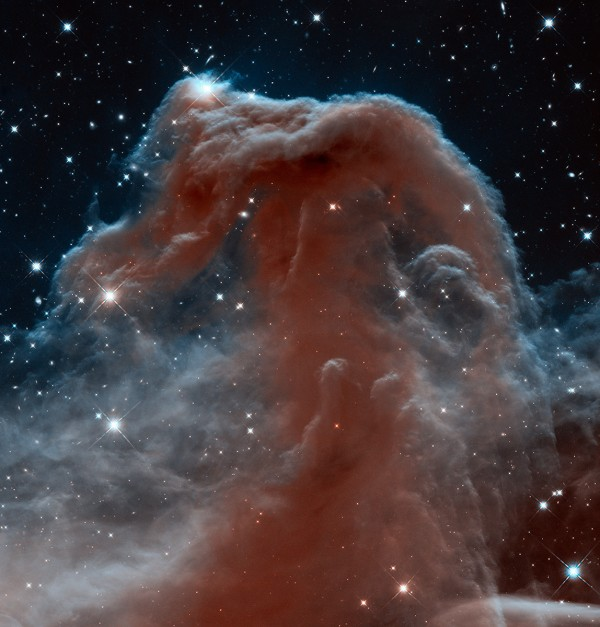 The Horsehead Nebula, photographed in 2013 celebration of the 23rd anniversary of the launch of Hubble aboard the space shuttle Discovery.