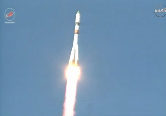 Progress 59 launch on April 28, 2015 via NASA on G+