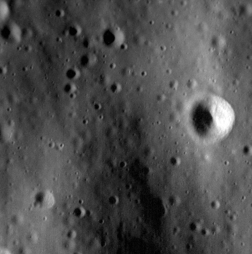 One of the highest resolution images ever obtained from Mercury, on April 23, 2015, as the MESSENGER spacecraft came ever nearer the planet, preparing to crash into its surface.
