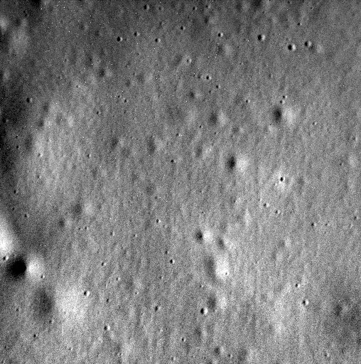 The image is located within the floor of the 93-kilometer-diameter crater Jokai. The spacecraft struck the planet just north of Shakespeare basin.