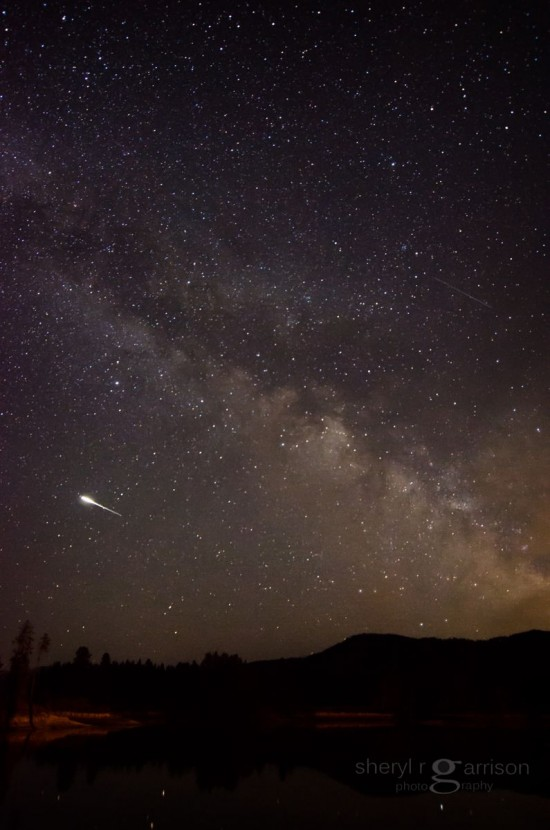 Sheryl R. Garrison in Sandpoint, Idaho caught this meteor on April 19, 2015.