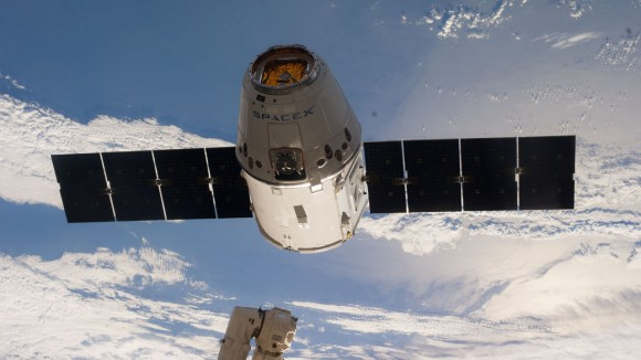 SpaceX Dragon capsule departs the International Space Station in May 2014. Image Credit: NASA