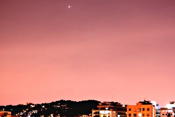 Venus and the Pleiades on April 11, 2015 from Helio de Carvalho Vital in Rio de Janeiro, Brazil.