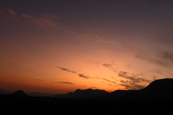 Volcanic sunset on May 3, 2015 at 5:42 p.m. in Mutare, Zimbabwe.  Photo by Peter Lowenstein.