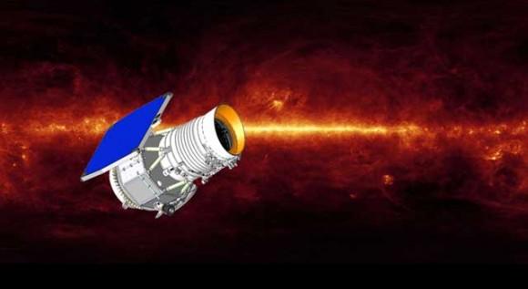 Artist's concept of WISE, the Wide-field Infrared Survey Explorer. Image via NASA/JPL-Caltech
