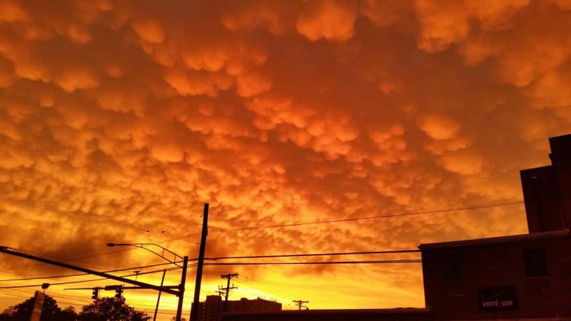 Crystal Kolb caught these mammatus clouds on June 23, 2015 from Essex, Maryland - near Baltimore - after a bad storm.