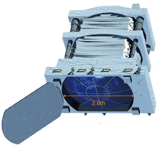 Proposed Euso telescope would be installed on the International Space Station.  This wide-field telescope would find small, one-centimeter bits of space debris.  Image via RIKEN.