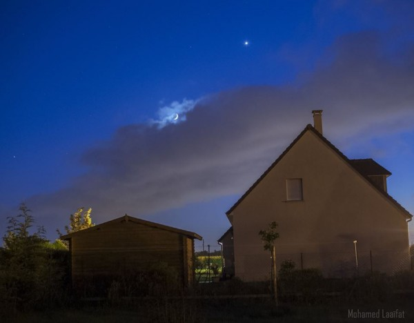 Moon and Venus on May 21 from our friend Mohamed Laaïfat Photographies?.  Thank you, Mohamed.