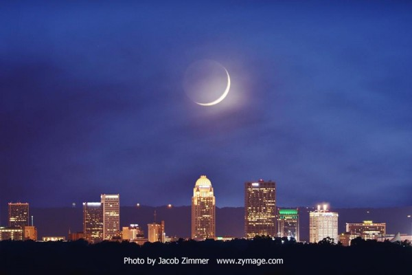 Waxing moon on May 19 from Jacob Zimmer in Louisville, Kentucky.  Thanks, Jacob!