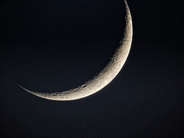 Waxing moon on May 21, 2015 from Jim Hatcher in San Diego.  Thanks, Jim!