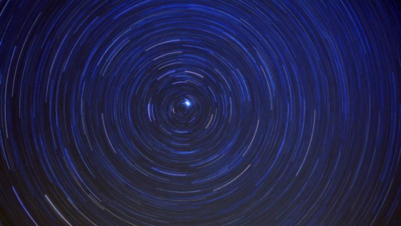 Sky wheeling around Polaris, the North Star.
