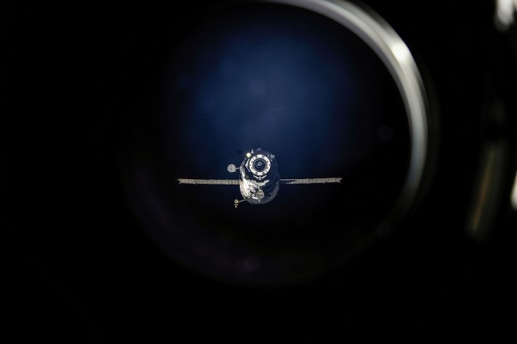 An unpiloted Russian Progress 50 (50P) resupply ship, seen here shortly after undocking from the International Space Station in July, 2013.