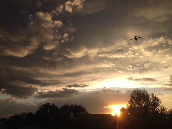 View larger. | Mammatus clouds at sunset submitted by Andrew Ashton in Nampa, Idaho.  Thanks, Andrew!