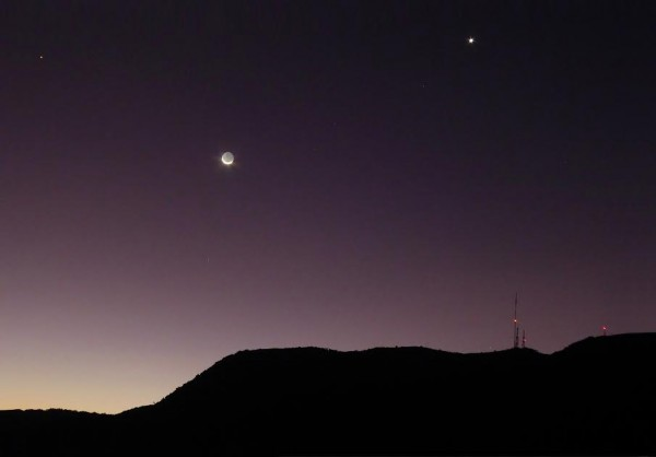 Moon and Venus as captured by Peter Lowenstein in Mutare, Zimbabwe on May 20, 2015.