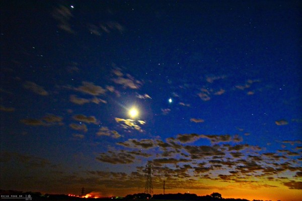 Niko Powe in Kewanee, Illinois caught the moon and Venus on May 21.  Thank you, Niko!