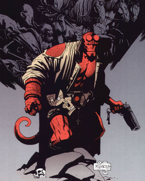 Comic book character Hellboy via Wikimedia Commons