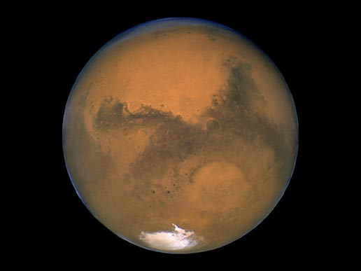 Mars Via NASA's Hubble Telescope