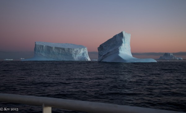 Iceberg near South Georgia Island, by Kjell Rune Venaas.