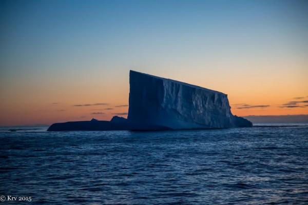 Iceberg in the early morning, near South Georgia Island, by Kjell Rune Venaas.