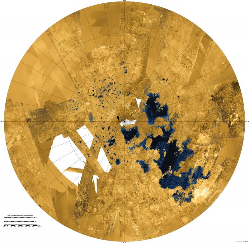 The Lakes of Titan. Image via NASA/JPL-Caltech/ASI/USGS