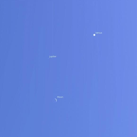 Venus-Jupiter-Moon