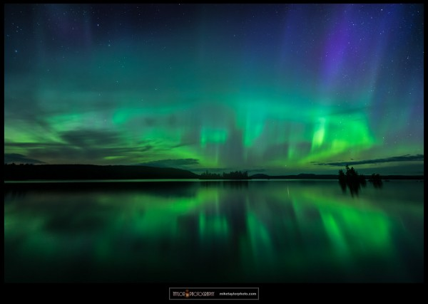 Mike Taylor of Mike Taylor Photo went to Moosehead Lake, Maine to watch the show.  He wrote:
