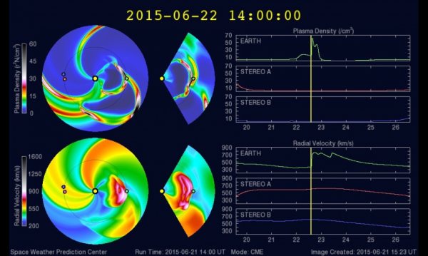 View larger. | Details on the June 21 CME, from NOAA.