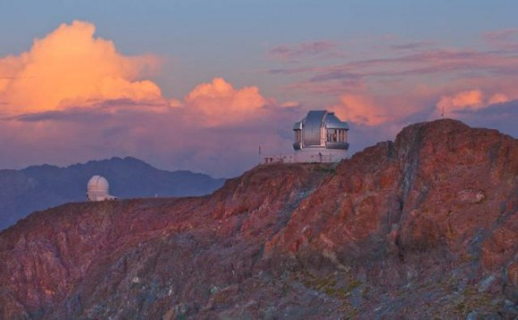 Gemini South Observatory at sunset. Photo credit: Credit: Gemini Observatory