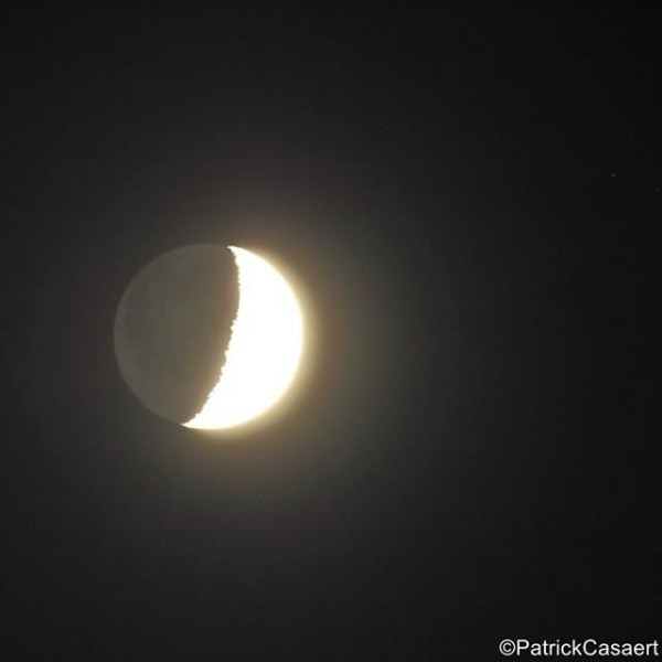 Last night's moon - June 22, 2015 - as captured by Patrick Casaert of La Lune The Moon.