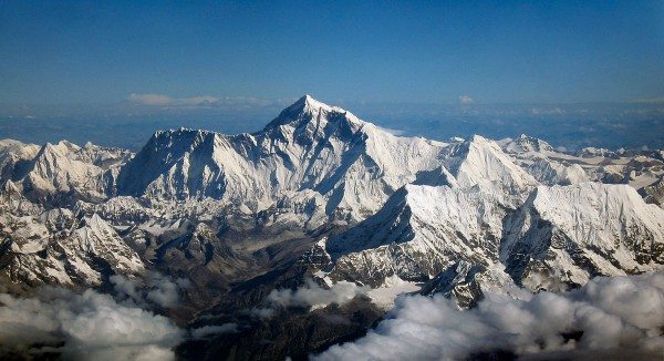 View larger. | Mountain Everest - known as Qomolangma in China - via Wikipedia.