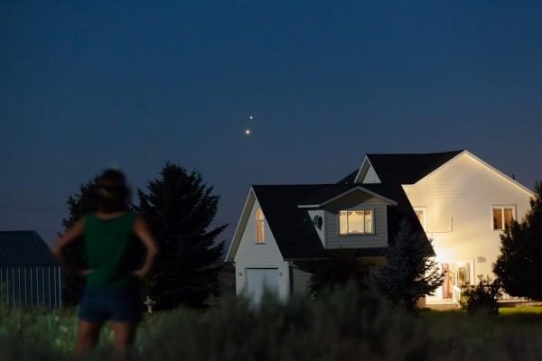 Venus and Jupiter over western Washington on June 30 by Susan Jensen.
