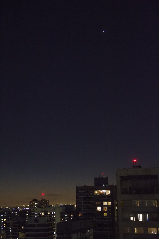 Venus and Jupiter from Buenos Aires, Argentina on June 30, by Guillermo.