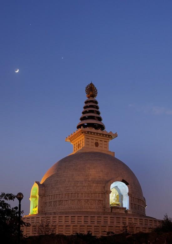 Venus, Jupiter and the moon on June 20, 2015 by Abhinav Singhai in India.