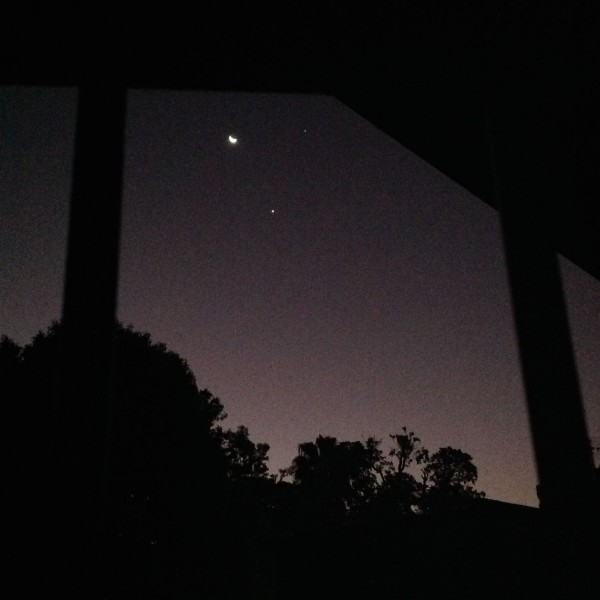 Moon and planets on June 20 from Nico Vorster in South Africa.  Thank you, Nico!