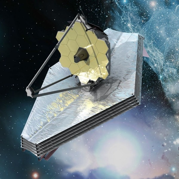 Artist's concept of James Webb Space Telescope via ESA/C. Carreau.