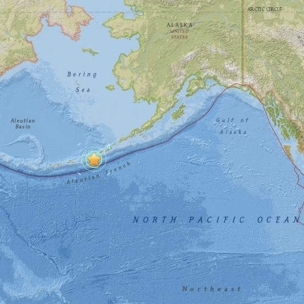 View interactive map></a< | July 26, 215 earthquake in the Aleutian Islands.