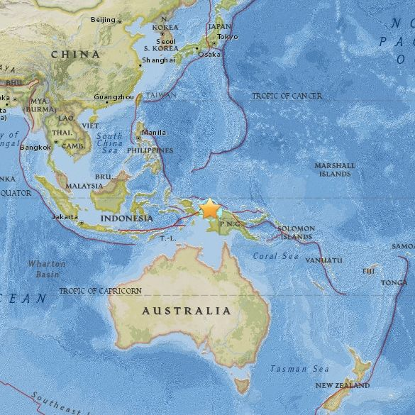 View interactive map. | July 28, 2015 earthquake in Indonesia.
