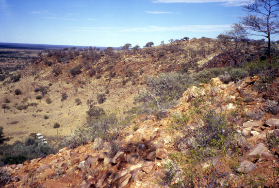 Jack Hills, Australia, where rocks were found to contain the oldest known minerals on Earth, a 4.4 billion-year-old zircon.  Image via John Valley, University of Wisconsin.