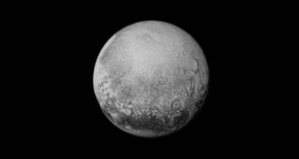 Newest view of Pluto seen from New Horizons on July 11, 2015 shows a world that continues to grow more fascinating and look stranger every day. See annotated version below.