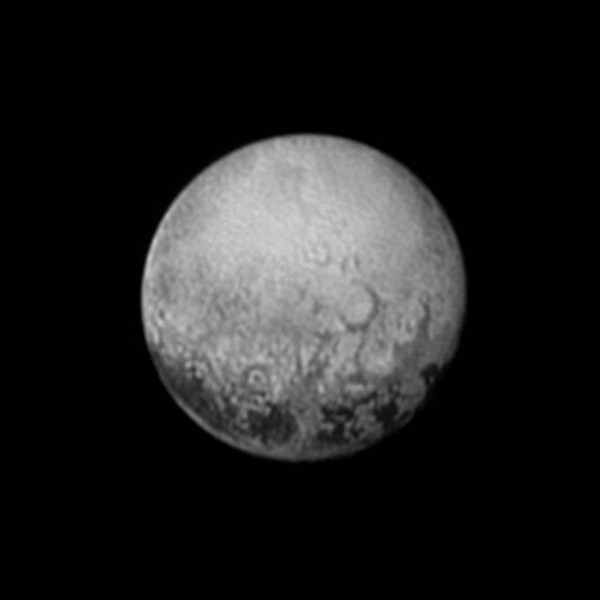 View larger. | The last best look at Pluto's farside, captured by the New Horizons spacecraft on July 11, 2015, from a distance of 2.5 million miles (4 million kilometers). Photo via NASA/JHUAPL/SWRI