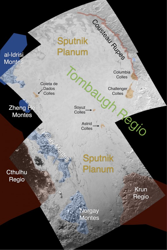 View larger. | Preliminary map of Tombaugh Regio