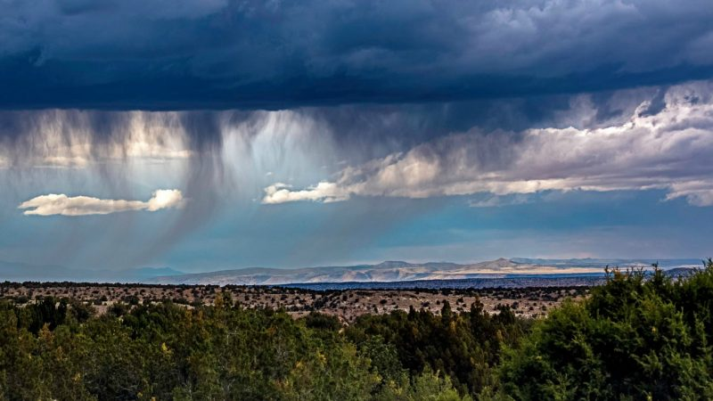Virga over Golden Open Space, New Mexico on June 1, 2106. . 6:09 pm. Photo via Jay Chapman.